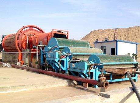 河南三门峡铁矿石磁选生产线