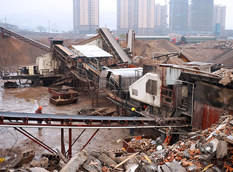 文莱建筑垃圾破碎处理生产线