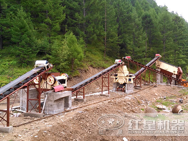 安徽淮南500t/h石英砂制砂生产线