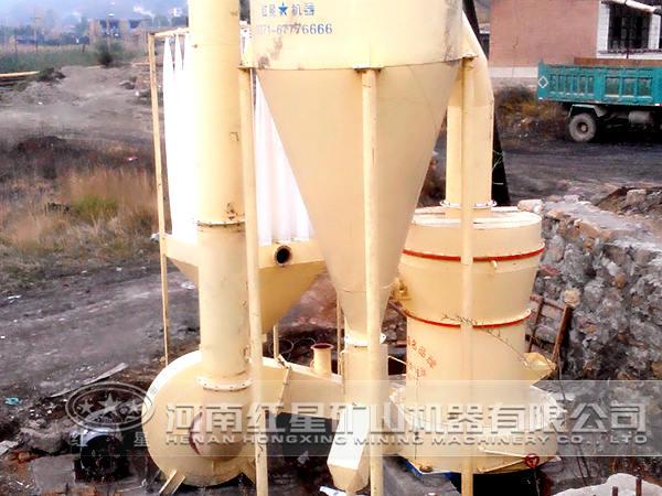 叶腊石磨粉机现场图