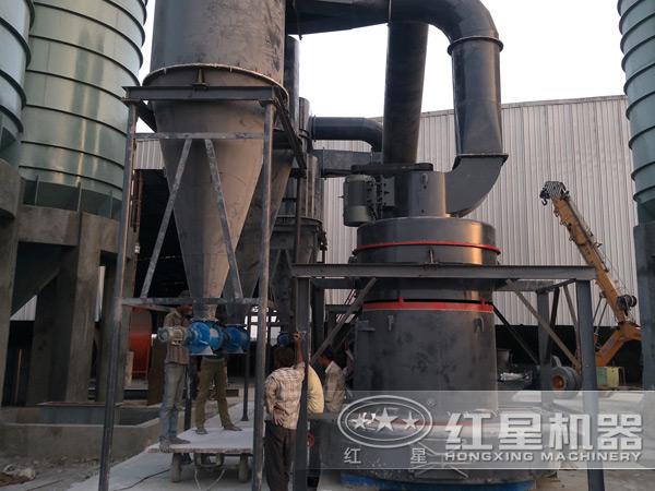 石灰石磨粉生产现场