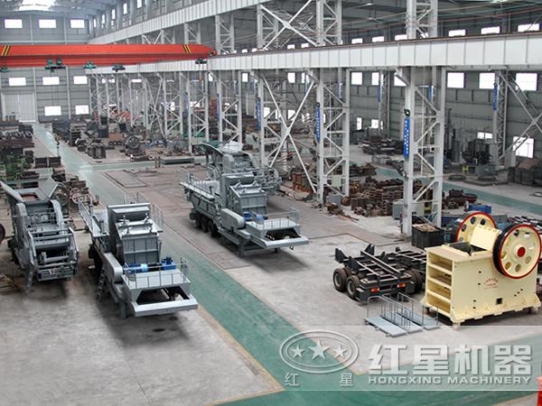 HX系列轮式移动破碎站厂家生产车间