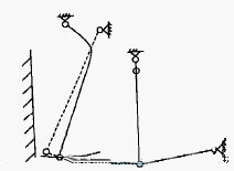 改进后的简摆颚式破碎机的结构原理示意图