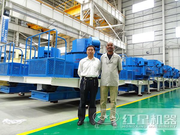 客户验收生产的制砂机