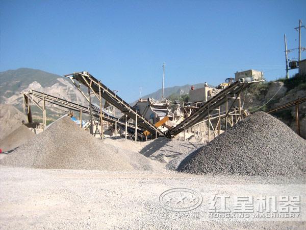 石料制砂生产线现场图