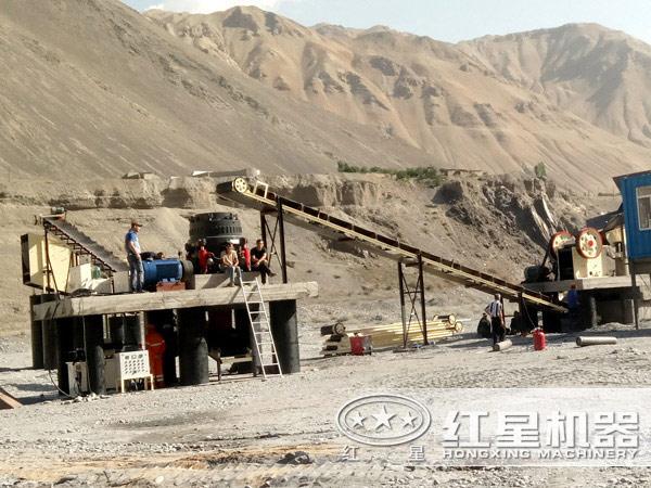 900x1200颚式破碎机石料生产线